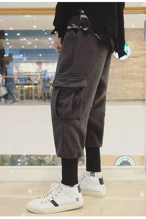 Styliste Salopette Taille Plus Vêtements 2018 Costumes Cheveux Personnalité 27 Harem Rue Épais Laine Mode Hommes 44 Ardoisé Gd De Pantalon 6anT0wq