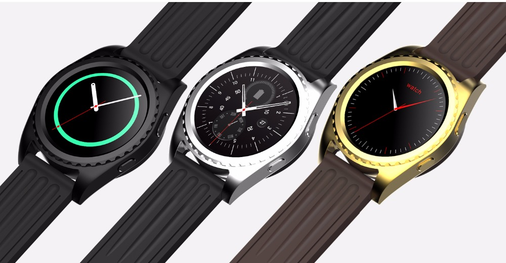 MTK2502c Round Smartwatch Bluetooth Phone Heart Rate Monitor Touch Screen font b Smart b font font