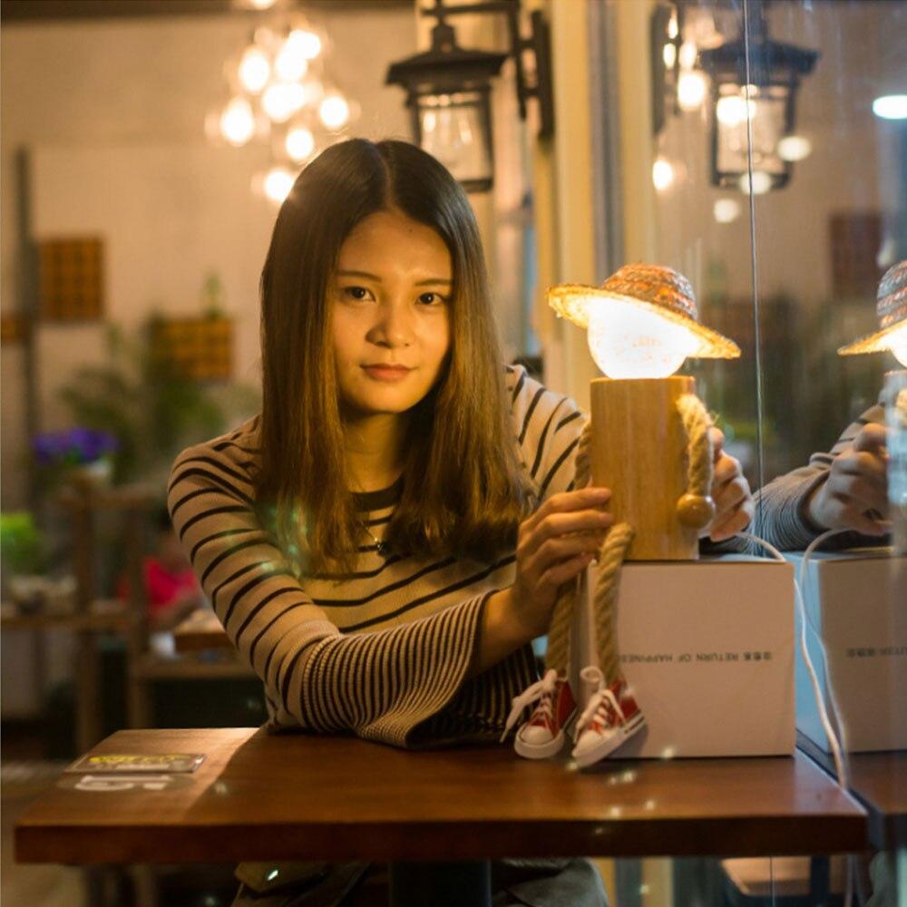 Decoração criativa luz da noite led pessoas