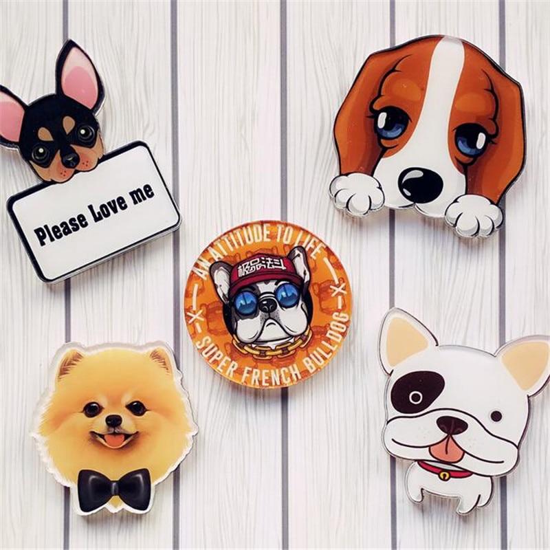 1 Piece Kawaii Chihuahua Dog Badge Animal Harajuku Acrylic Pin Badges Cartoon Backpack Pins Icons
