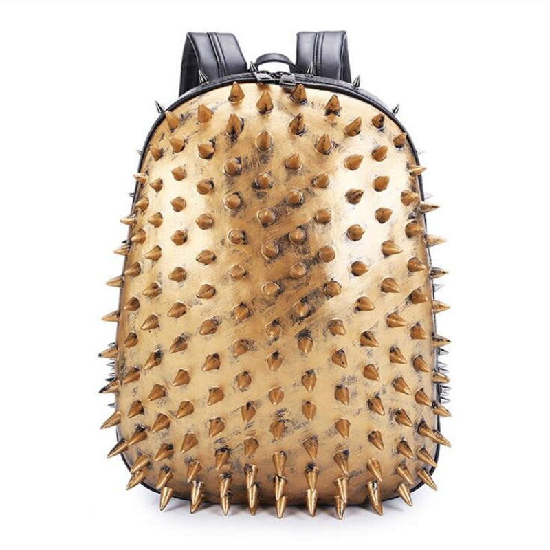 Personality Hedgehog Spiked Women Backpack High Quality Leather Female Backpack Famous Brand Designer School Bag Mochila