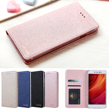 ФОТО for xiaomi redmi note 4 case luxury crystal silk leather flip book wallet case for redmi note 4x case coque redmi note 4 4x case