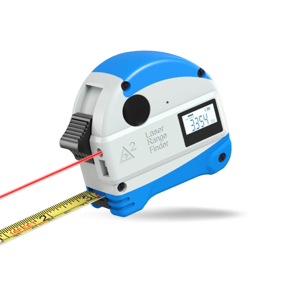 30M Laser Rangefinder 5M Anti-fall Steel Tape Measurment Infrared Digital Distance Meter Measure Tool