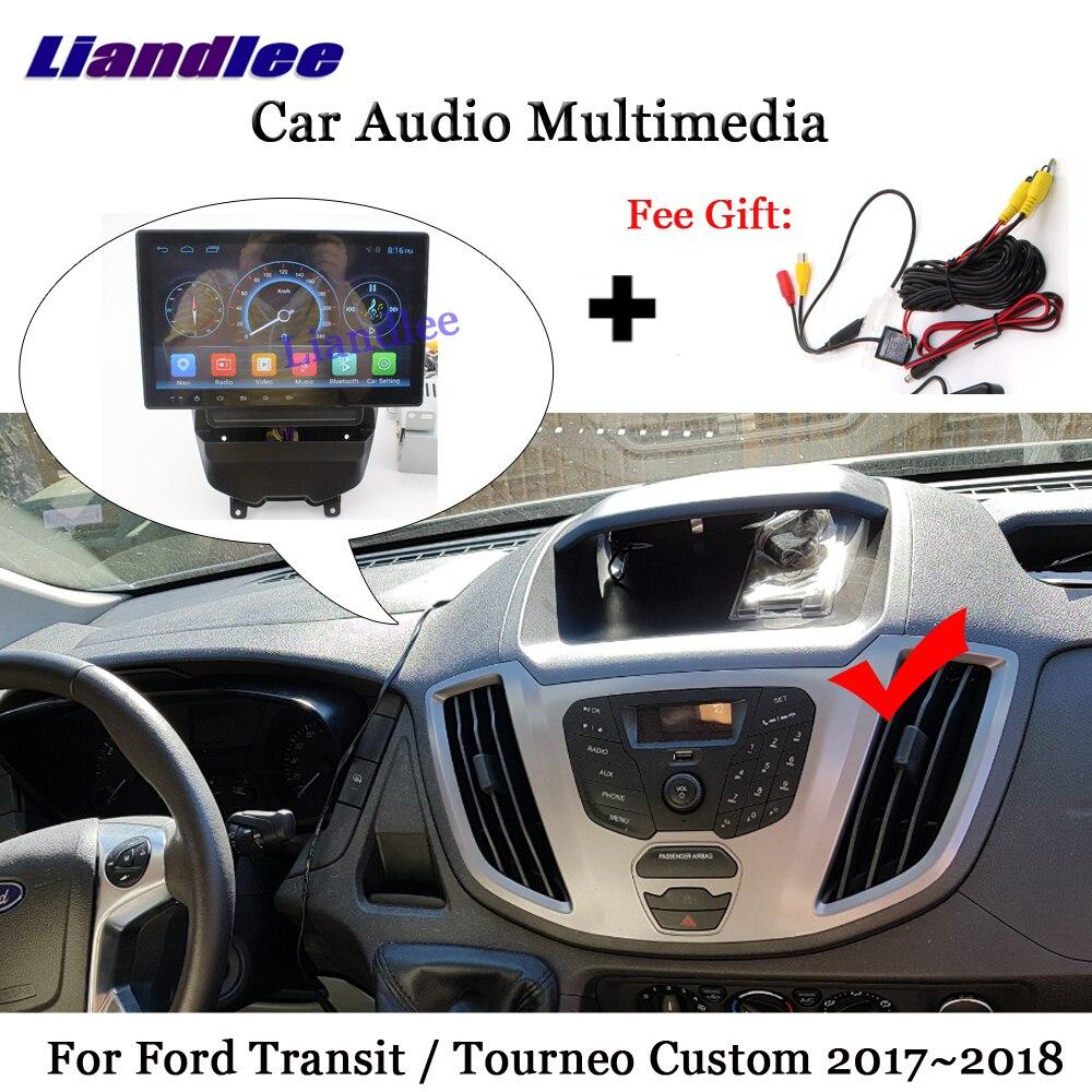 Liandlee Auto Android Per Ford Transit Tourneo Custom 2017 ~ 2018 Macchina Fotografica Della Radio Carplay BT GPS Navi MAPPA di Navigazione Dello Schermo multimedia