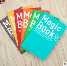 6 PIECE/LOT New hot Magic Book style mini student notebook A6 soft cover diary book stationery free shipping
