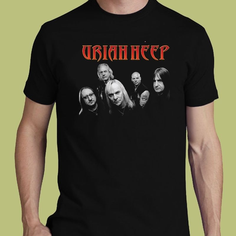 Uriah Heep Tee Lady In Black S-3XL T-Shirt Hard Rock Band Fashion New Top Tees T Shirt Top Tee O-Neck Stylish image