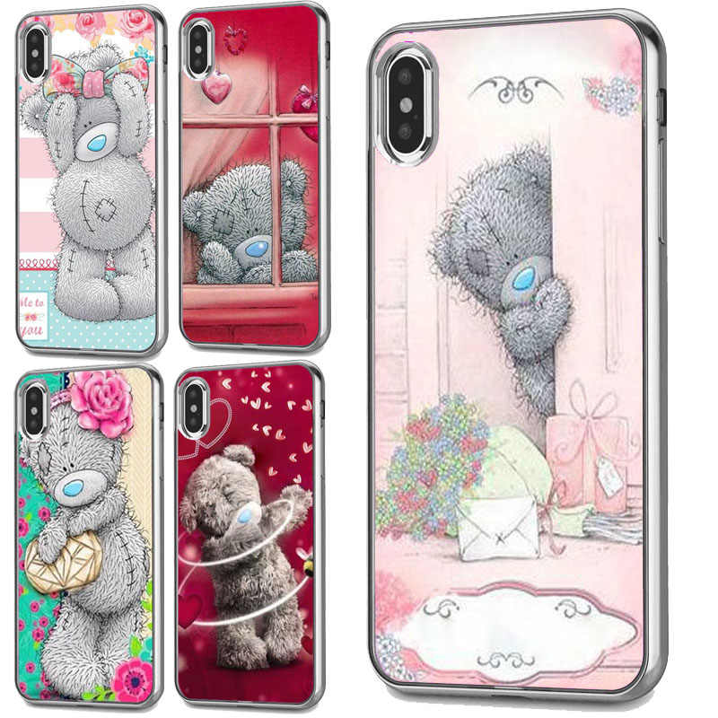 Harde PC case Voor iphone XS Max case Tatty Teddy Ik Je Beer Telefoon case Covers Voor iphone 4 5 S SE 6 S 7 8 plus XR case