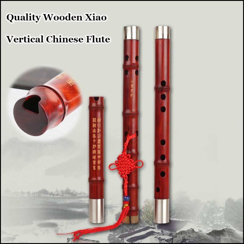Madera Chino Xiao Flauta Vertical Flauta Profesional Instrumento Musical de Vien