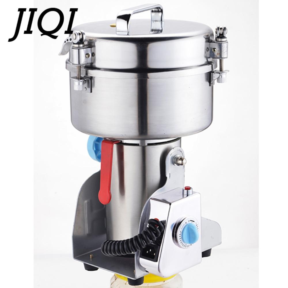 JIQI 2000g Chinese Geneeskunde Molen Graan Molen Elektrische Slijpmachine Moer Kruiden Crusher Miller Shredder Verstuiver 110V 220V-in Voedsel Verwerkers van Huishoudelijk Apparatuur op  Groep 3
