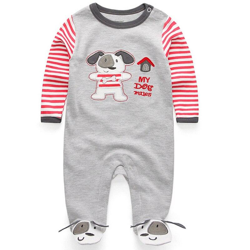 Милый детский комбинезон удобная одежда для новорожденных 0-9 м одежда для малышей, новорожденных одежда для малышей - Цвет: baby grey dog