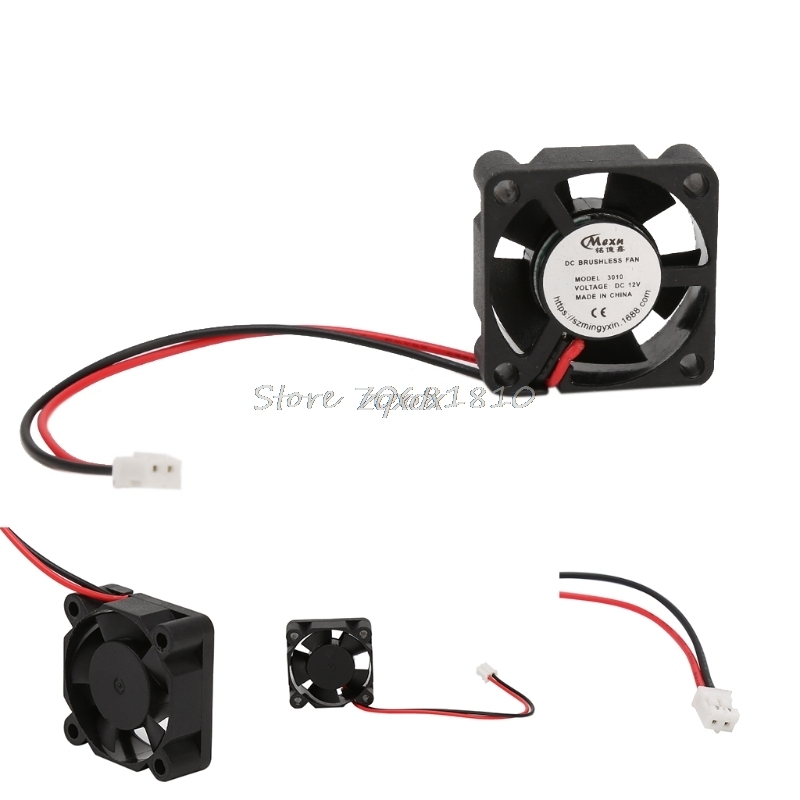 12V 3010 fan 30*30*10mm 3010s DC small fan cooling extruder 2-wire For 3d printer accessories part Z07 Drop ship anet 12v brushless cooling fan for 3d printer extruder
