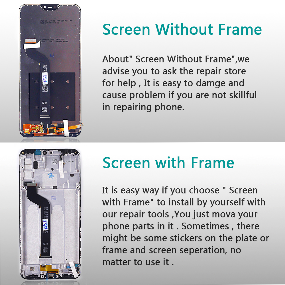 Deal Team 5.84 inch LCD display For Xiaomi Mi A2 Lite touch screen digitizer assembly For Xiaomi Redmi 6 Pro Frame 10 Multitouch