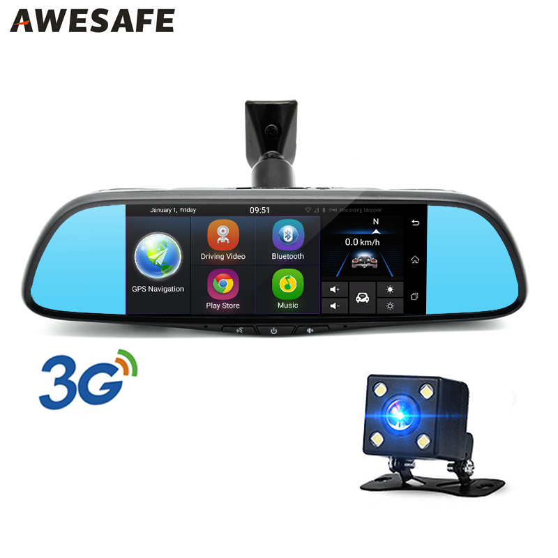 AWESAFE Special 3G font b Car b font Rearview Mirror DVR Camera 7 Android font b
