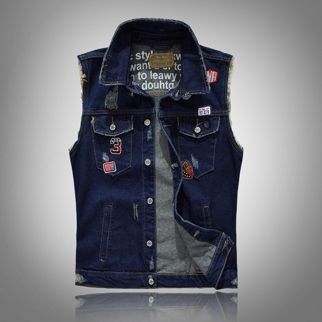 Aliexpress.com : Buy Grandwish Men's Sleeveless Jeans Jacket with ...