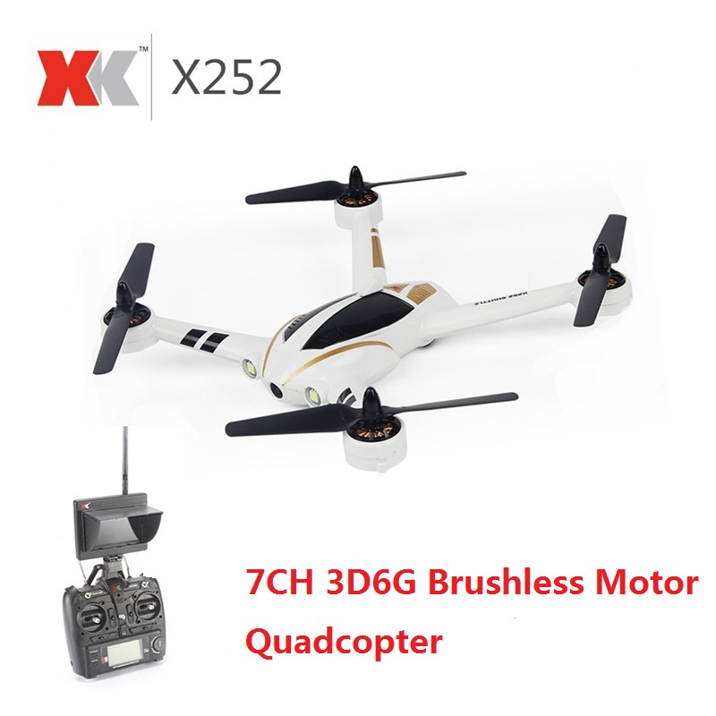 все цены на XK X252 2.4G 7CH 5.8G FPV Quadcopter RC Racing Drone With 720P Wide-Angle HD Camera Brushless Motor RTF 3D 6G Mode