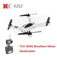 XK X252 2.4G 7CH 5.8G FPV Quadcopter RC Racing Drone With 720P Wide-Angle HD Camera Brushless Motor RTF 3D 6G Mode