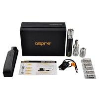 Aspire Platinum Electronic Cigarette Kit 2ML Atlantis Glass Atomizer Vaporizer BVC CF Sub OHm 2000mah Battery
