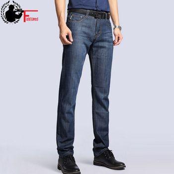 Big Size Plus 40 42 2018 Nian JEEP brand Men Jeans Classic Men's Clothing Casual Denim trousers Men Regular Blue jean pants Male