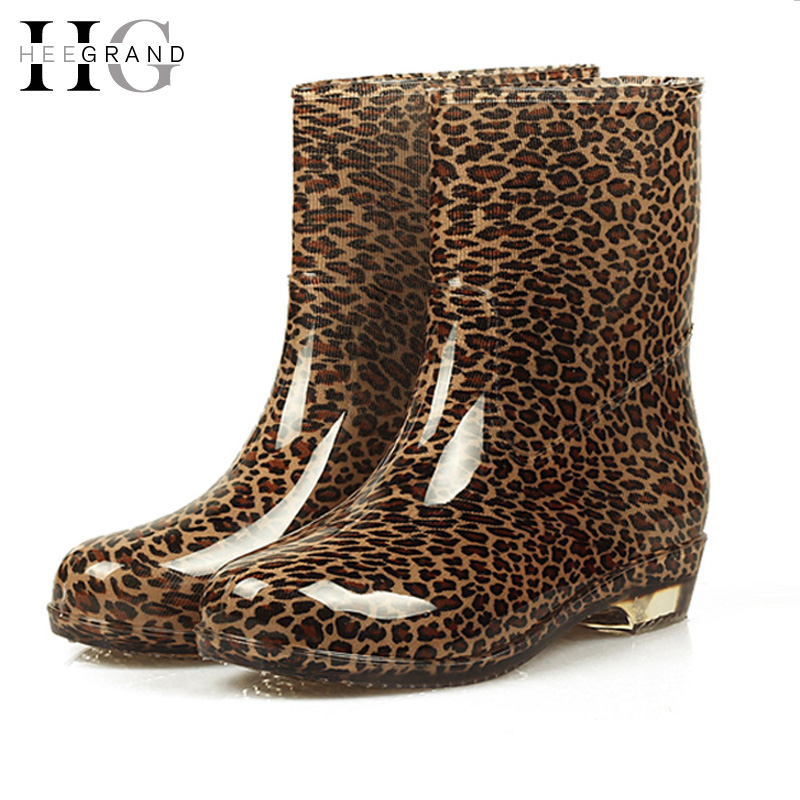 Women Rain Boots 2017 Autumn Shoes Woman Slip On Mid-Calf Motorcycle Platform Rubber Waterproof Boot Botas Feminina XWX511 ...