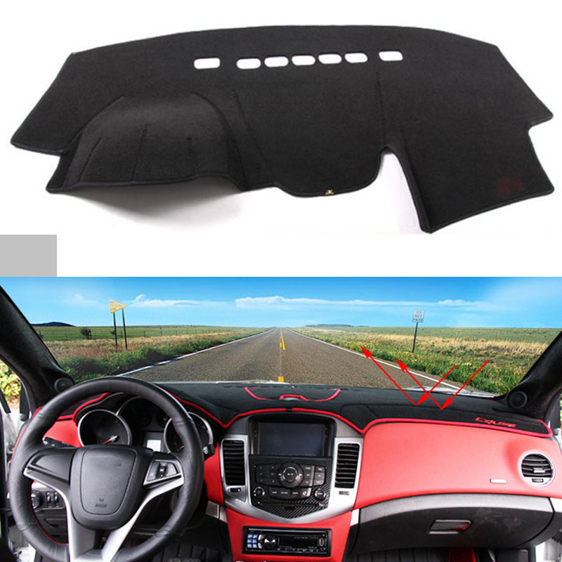 Car dashboard Avoid light pad Instrument platform desk cover Mats Carpets Auto accessories for Chevrolet Sail 2010 to 2016 for toyota crown 2004 2016 double layer silica gel car dashboard pad instrument platform desk avoid light mats cover sticker
