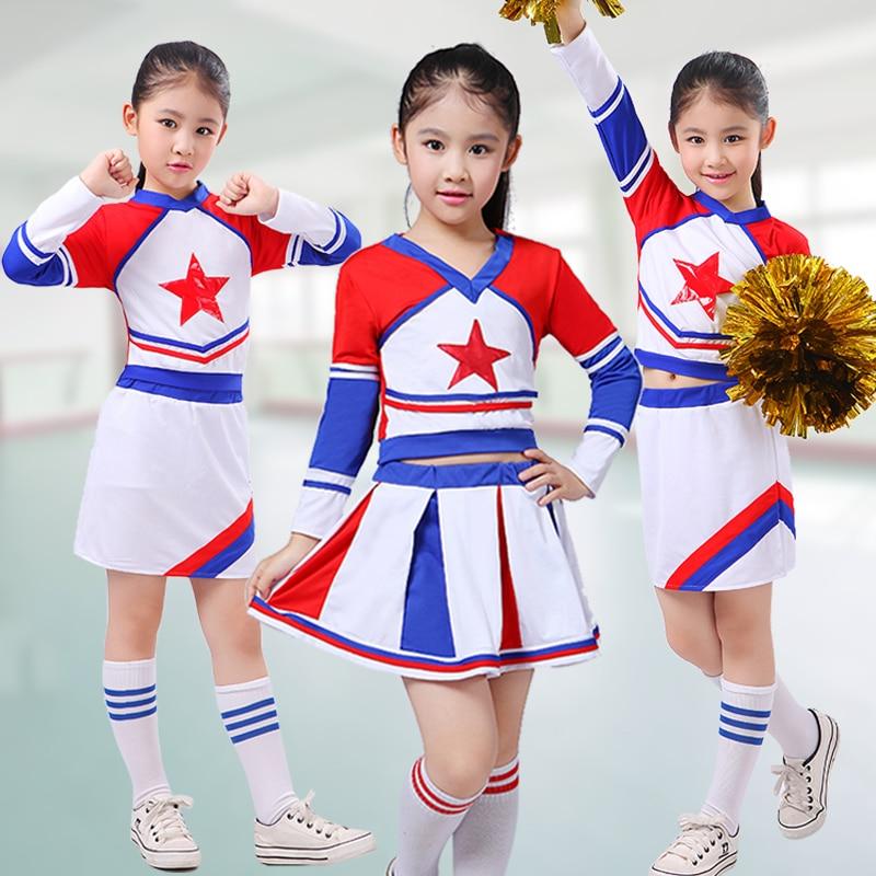 Children Academic Dress Primary School Uniforms Set Girl Cheerleader Cheer Leaders Costume Boy Aerobics Clothing Uniforms