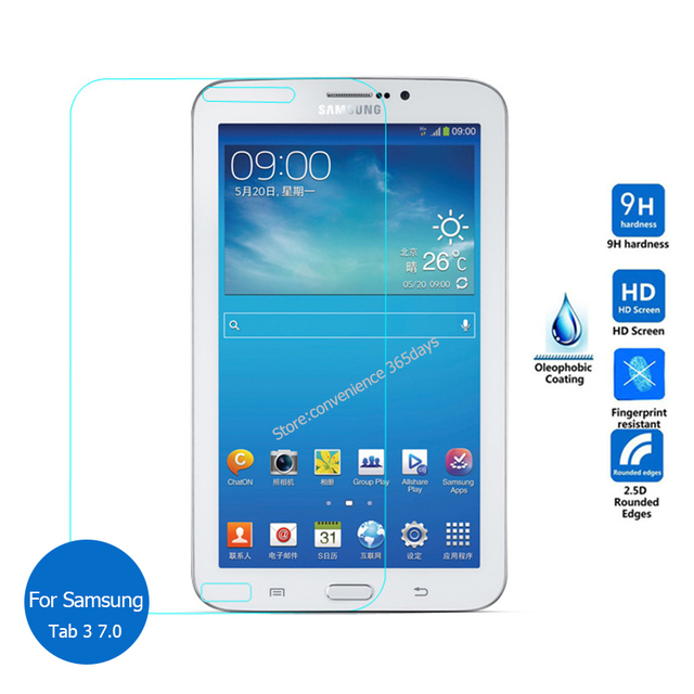 ac1d519de7a For Samsung Galaxy Tab 3 7.0 Tempered Glass screen Protector 2.5 9h Safety  Protective Film On Tab3 7 T210 T217 T210L 4G Lte-in Tablet Screen  Protectors from ...