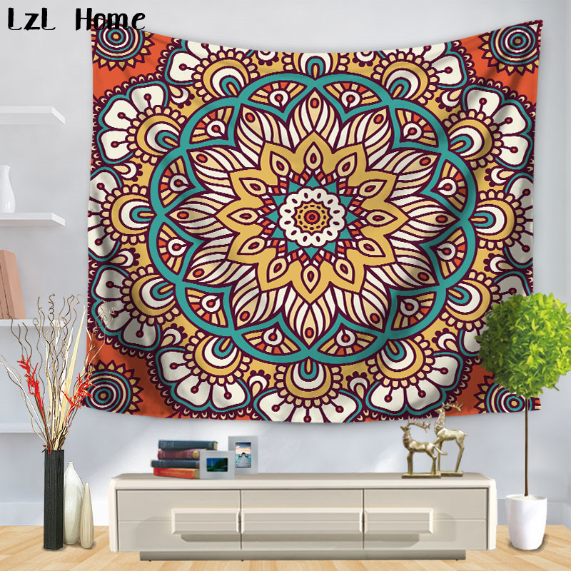 LzL Home 2018 New Pattern Indian Mandala Retro Home Decor Tapestry <font><b>Tenture</b></font> Mural Wall Hanging Tapestries Bath Towel Yoga Mat image