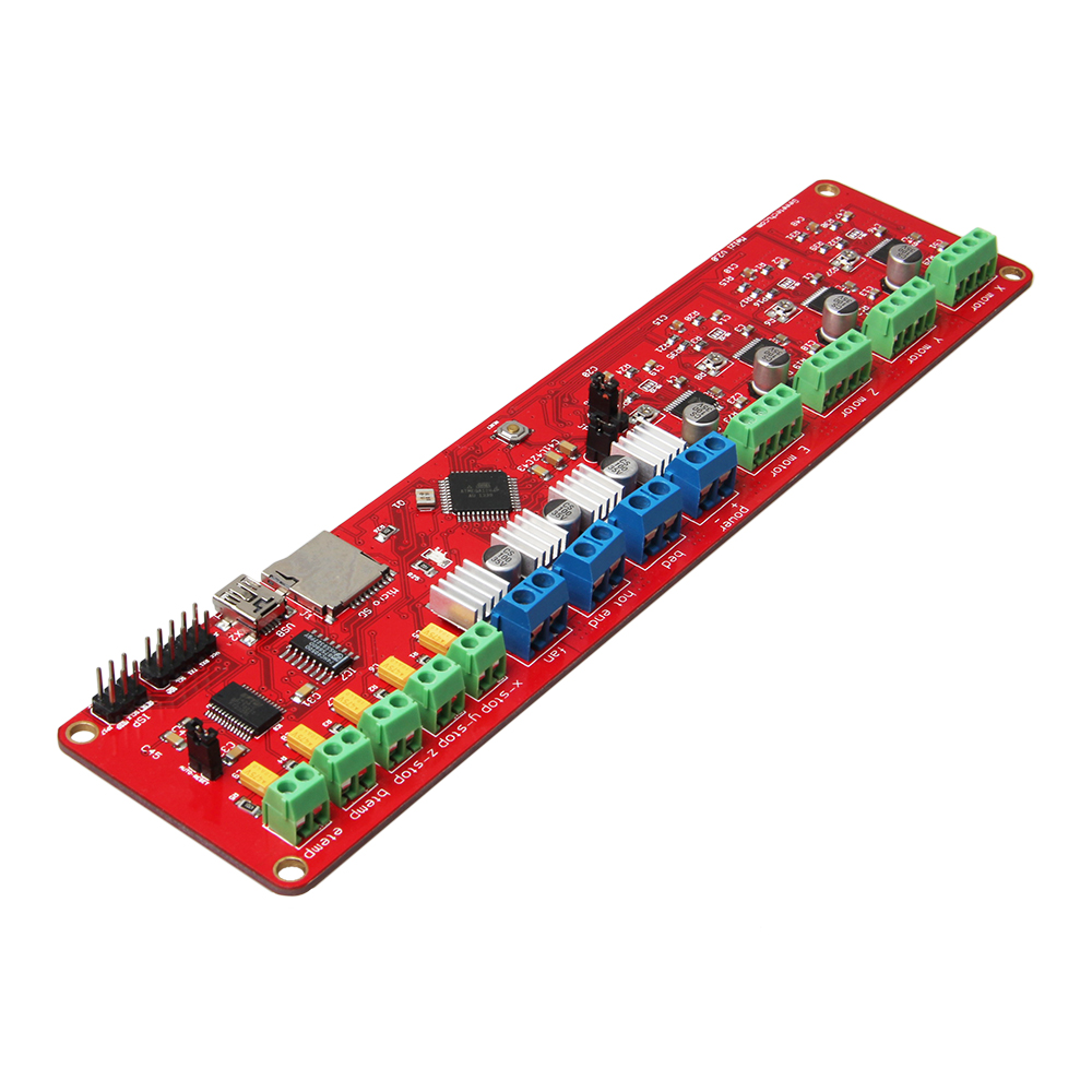 Geeetech Reprap 3D Printer Control Board Melzi 2.0 ATMEGA1284p, FT232RL USB Interface 4*A4988 for Arduino Free Shipping geeetech newest reprap 3d printer control board rumba usb cable best choice for diy fans