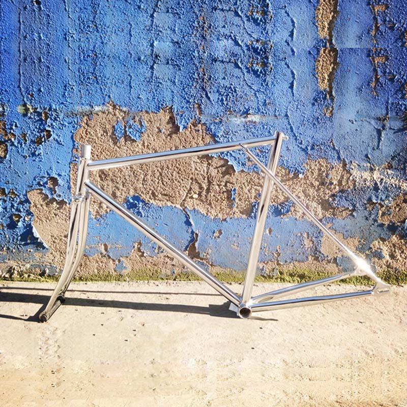 700C Bike 53Ccm 55cm 58cm Frame Bicycle Fixie Gear Frame And Fork Bike Chrome Steel Frameset Track Bike Frameset Fixie Bike