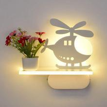 Modern led wall lamp simple warm bedroom bedside LED lamp creative living room corridor decorative children's Led Wall Light
