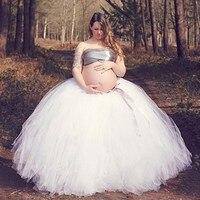 Fashion Handmade Bundle Tulle Tutu Skirts for Pregnant Woman Photography Props Full Length Long Ballroom Tutu Faldas Saia Jupe
