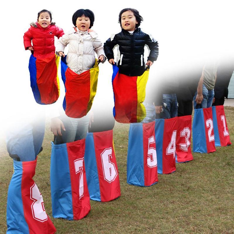 8 pièces plein air kangourou Hop sac saut formation équilibre jeux jouets pour enfants - 3