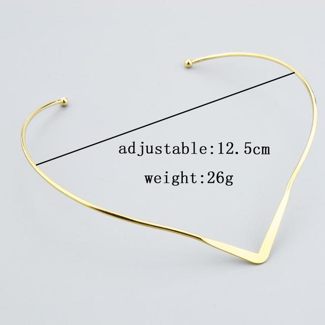 Minimalist V Torque Necklace