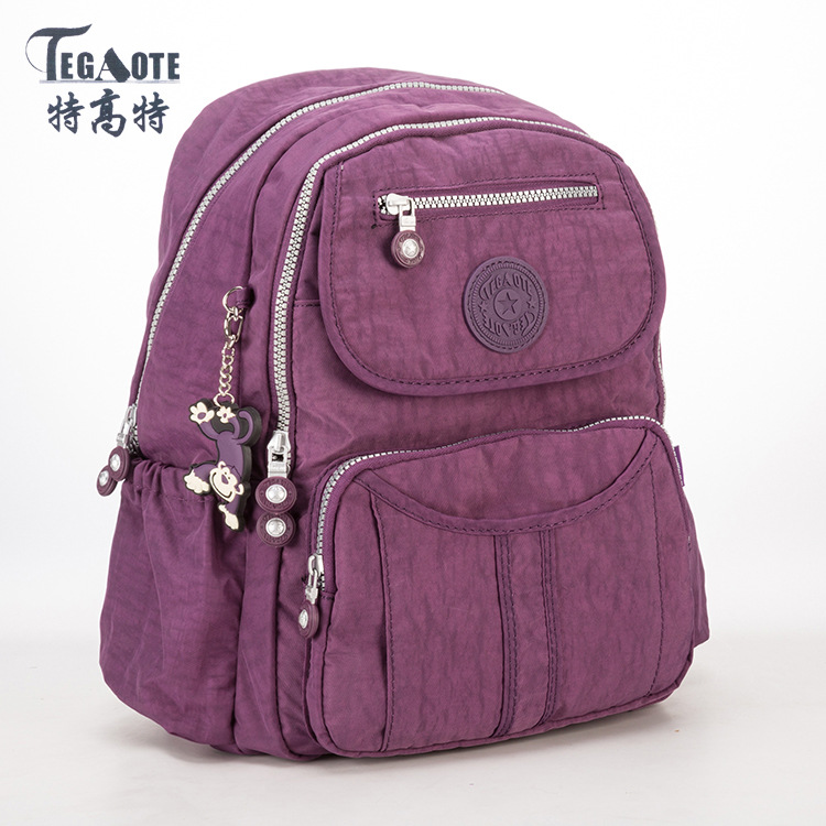 TEGAOTE 2017 School Backpack for Teenage Girls Nylon Mochila Feminine Backpack Female Solid Famous Casual Women Laptop Backpack tegaote nylon waterproof school backpack for girls feminina mochila mujer backpack female casual multifunction women laptop bag