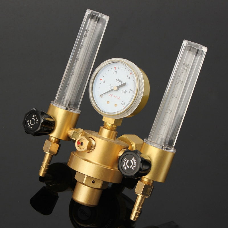 CO2 Argon Gauge Pressure Regulator Mig Tig Flow Meter Control Valve Welding Gas Double Tube Bubble Counter Aquarium Flowmeter
