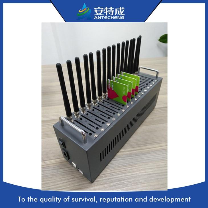 Prezzo basso multi sim 16 porte modem gsm Q24plus quad band 900/1800/850/1900 Mhz supporto comando at/stk/ussd/sms