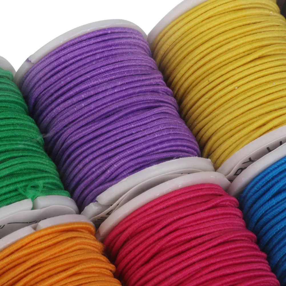 10 шт. 1 мм * 5 м эластичного нейлона изготовления ювелирных изделий Craft бисерная нить катушки DIY бусины с кисточками Строка темы