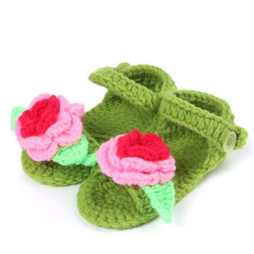Bebé recién nacido Primer Caminante Zapatos de Bebé Del Ganchillo Hecho A Mano d