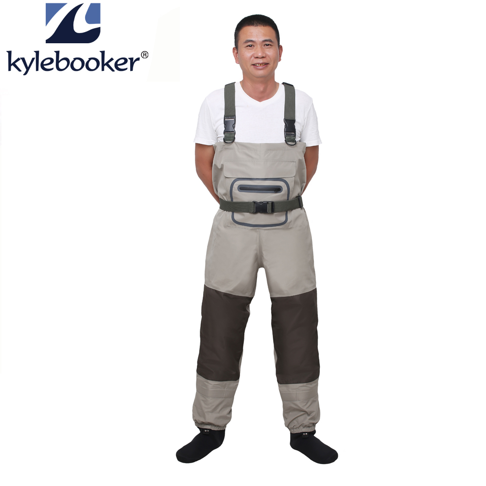 Men s Neoprene Stocking Foot Wader Stockingfoot Breathable Fly Fishing Hunting Chest Wader