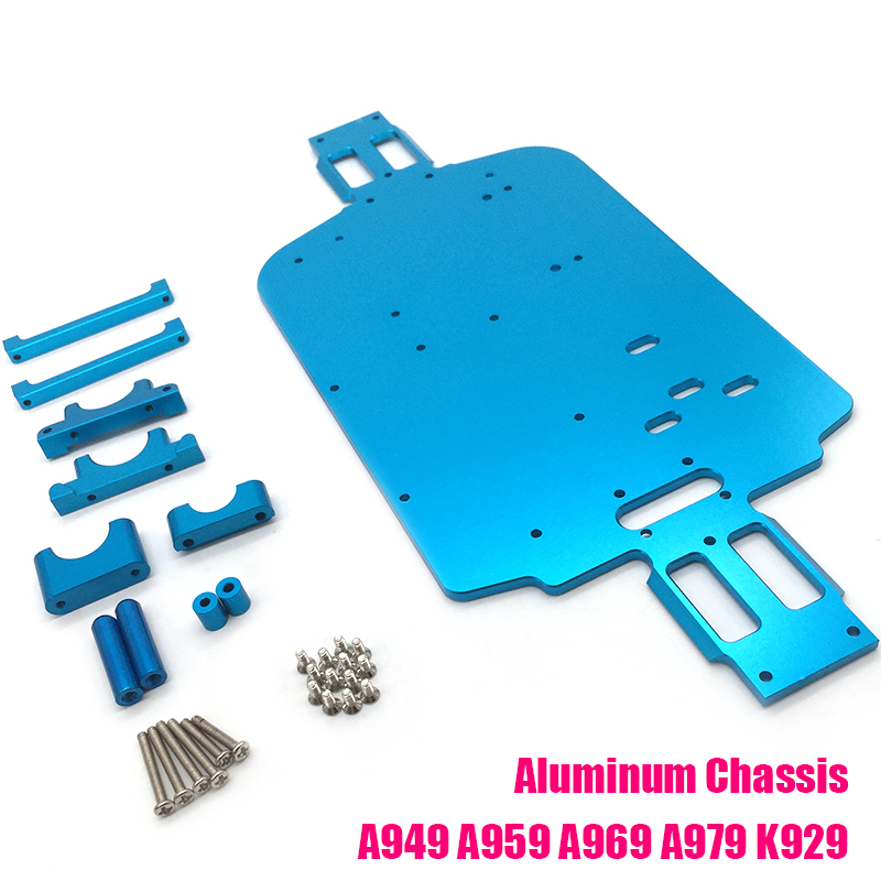 i Drone DIY Spare Parts For 1/18 Wltoys A949 A959 A969 A979 K929 Metal Chassis Set RC Car Upgrade Rc Metal Accessories