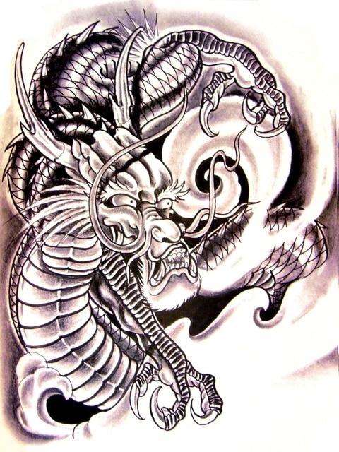 Chinese Dragon Free tattoo stencil t