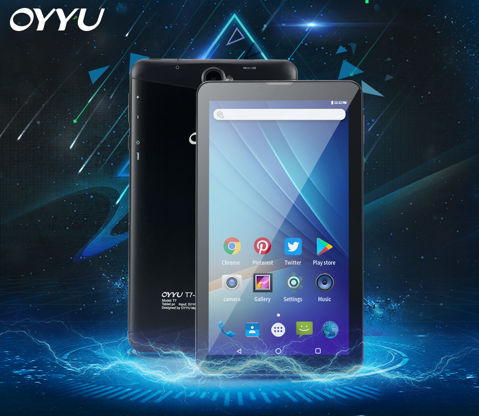 3G Phone Call Tablet pc Android 6.0 OYYU T7 MT8321A/B Quad Core 1.3GHz 1G RAM+16GB ROM WiFi Bluetooth 7 inch 720*1280 IPS Screen tablets aoson s7 7 inch 3g phone call tablet pc android 7 0 16gb rom 1g ram quad core dual camare gps wifi bluetooth tablets