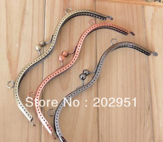 10pcs High Quality 19CM M Shaped Metal Purse Frame Completed Holes Freeshipping