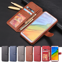 Lüks deri cüzdan Xiaomi Redmi Not 5 note5 Pro kart tutucu Flip Kılıf Standı Redmi Not 5 Case Silikon arka kapak
