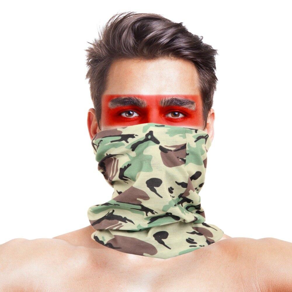 VILEAD Polyester Cycling Scarves Bandana Neck Braga Tube Head Scarf Face Dust Mask Multifunctional Warm Camping Hiking Headwear