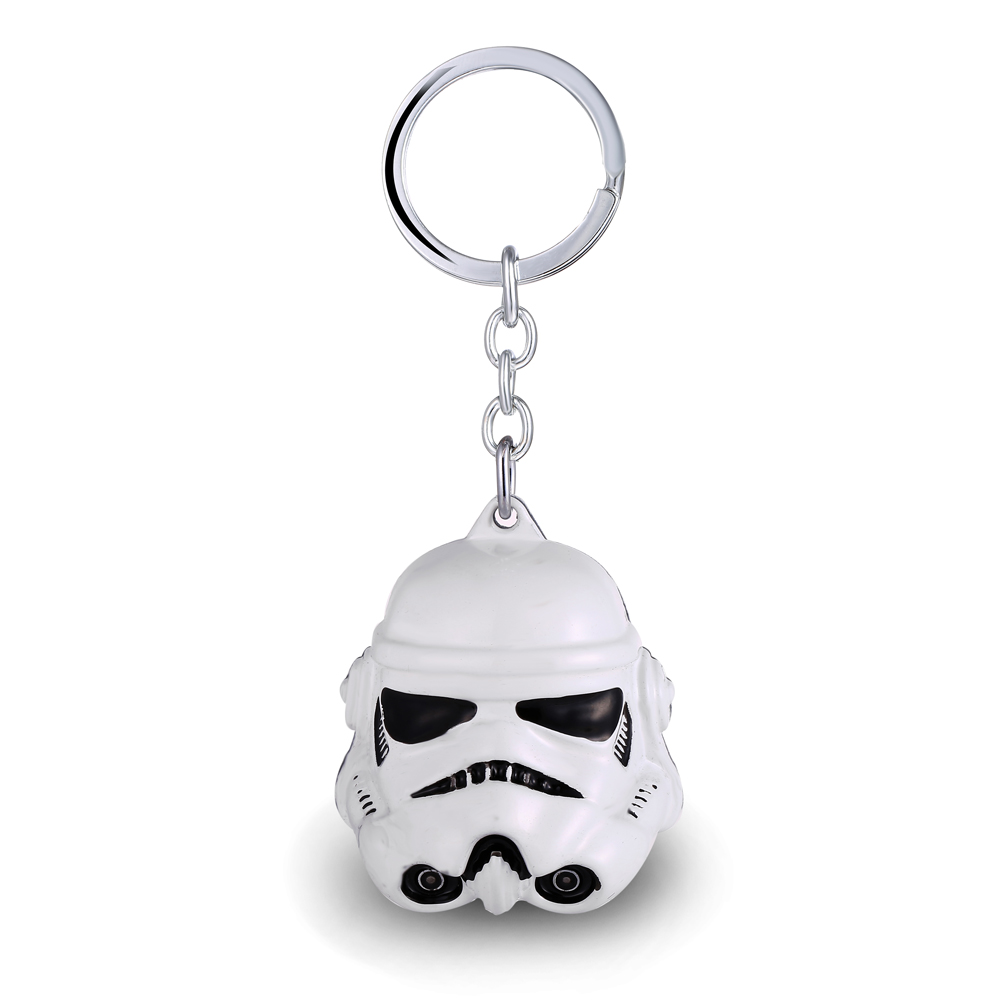 MS JEWELS Movie Gifts Jewelry Star Wars 3D Stormtrooper Mask Keychain Metal Key Rings Key Chain Jewelry Promotion Dropshipping