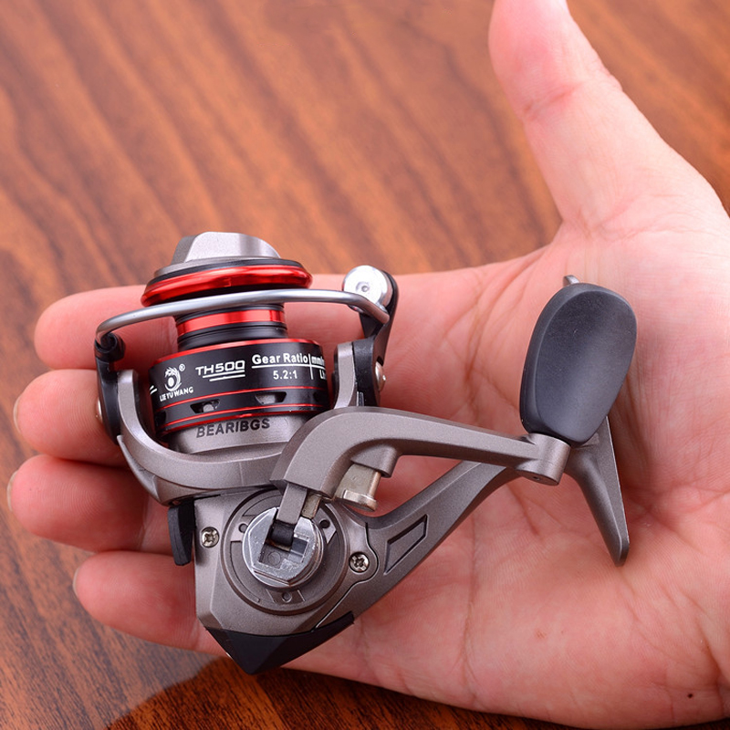 Metal Spinning Reel Fishing Reel 500-7000 Series Saltwater Carp Fishing Reels Left And Right Interchange Handle Fishing Tools