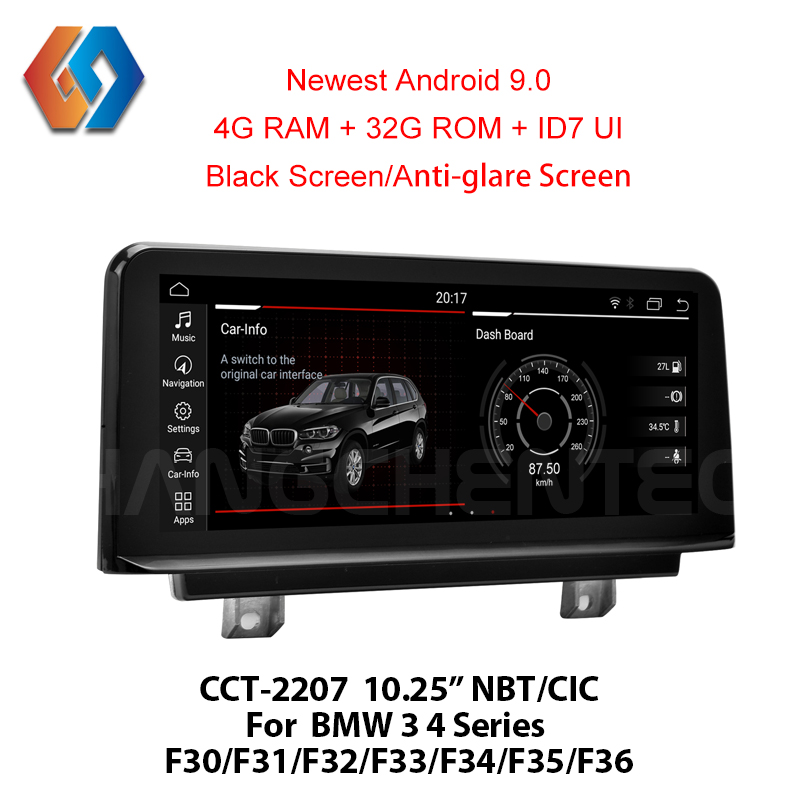 For BMW 3 4 Series F30 F31 F32 F33 F34 F35 F36 PX6 Android 9.0 Black Screen Car Multimedia Navigation Radio with GPS BT WiFi 7