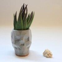 Geometric Skull flowerpot molds Concrete pot silicone molds New design cement holder molds
