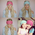 Новинка женщины зима теплая плетеный вязать шерсть шляпа группы Cap волосы повязка на голову